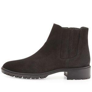 Stuart Weitzman Elemental Suede Ankle Zipper Boots